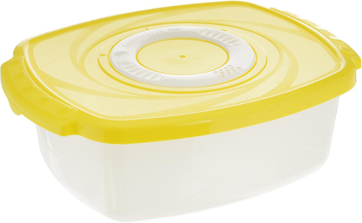 Кастрюля для СВЧ Plastic Centre Galaxy, цвет: желтый, 1,6 лПЦ2261_желтыйКастрюля для СВЧ Plastic Centre Galaxy изготовлена из высококачественногополипропилена, устойчивого к высоким температурам. Яркая цветная крышка плотнозакрывается, дольше сохраняя продукты свежими и вкусными. Кастрюля снабжена паровыпускным клапаном, который можно регулировать. Кастрюля прекрасно подойдет для разогрева и приготовления пищи в СВЧ. Объем кастрюли: 1,6 л. Размеры кастрюли: 22,3 х 16,6 х 7,5 см.