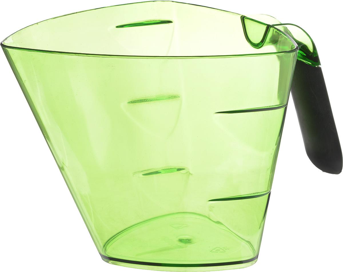 Стакан мерный Giaretti Cristallo, цвет: зеленый, 1 лGR3066_зеленыйМерный прозрачный стакан Giaretti Cristallo выполнен из высококачественного пластика. Стакан оснащенудобной ручкойс противоскользящей вставкой и носиком, которые делают изделие еще болеепростым в использовании. Мерная шкала внутри стакана, позволяет измерить жидкости до 1 л.Удобная форма стакана позволяет как отмерить необходимое количество продукта, так ивзбить/замесить его непосредственно в прямо в этой же емкости.Такой стаканчикпригодится каждой хозяйке на кухне, ведь зачастую приготовлениенекоторых блюд требует известной точности.Объем: 1 л.Размер: 14,5 х 15 х 13 см.Длина ручки: 9,5 см. Толщина стенок: 2 мм.