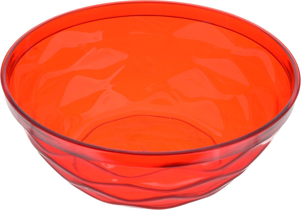 Салатник Giaretti Riva, цвет: красный, 4 л181020Салатник Giaretti Riva выполнен из высококачественного пластика и оформлен оригинальной рельефной поверхностью. Он прекрасно впишется в интерьервашей кухни и станет достойным дополнением к кухонному инвентарю.Диаметр салатника (по верхнему краю): 27 см. Высота стенки: 10,3 см.
