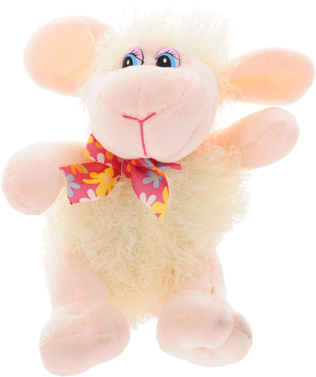 Magic Bear Toys Мягкая игрушка Овечка цвет молочный 18 см magic bear toys мягкая игрушка ослик чарли 27 см