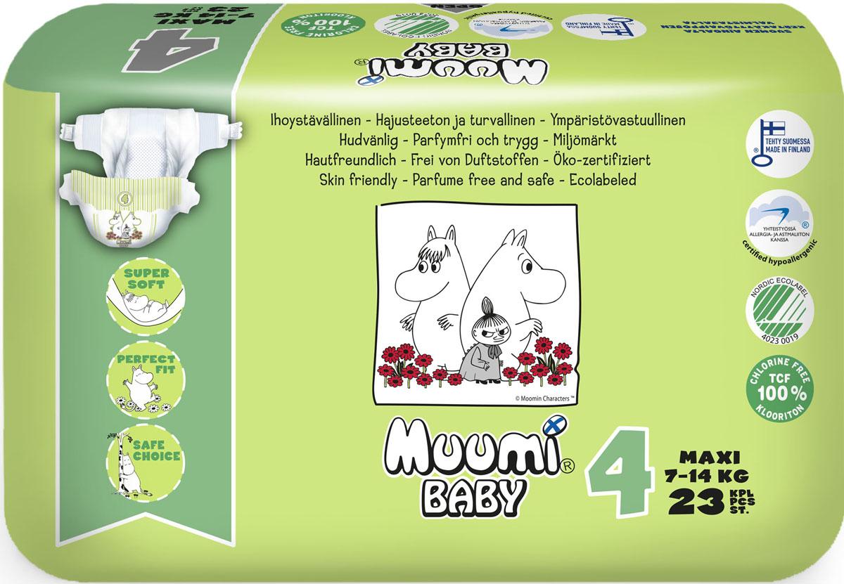 Muumi Baby Подгузники детские Макси (размер 4) 7-14 кг 23 шт