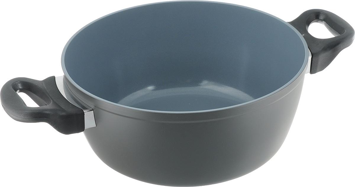 """Кастрюля """" NaturePan Classic"""" выполнена из высококачественного алюминия с керамическим антипригарным покрытием.  Изделие оснащено  удобными пластиковыми ручками. Кастрюля подходит для газовых, электрических, галогеновых и стеклокерамических плит. Можно мыть в  посудомоечной машине.  Диаметр кастрюли (по верхнему краю): 24 см. Высота стенки: 10 см."""