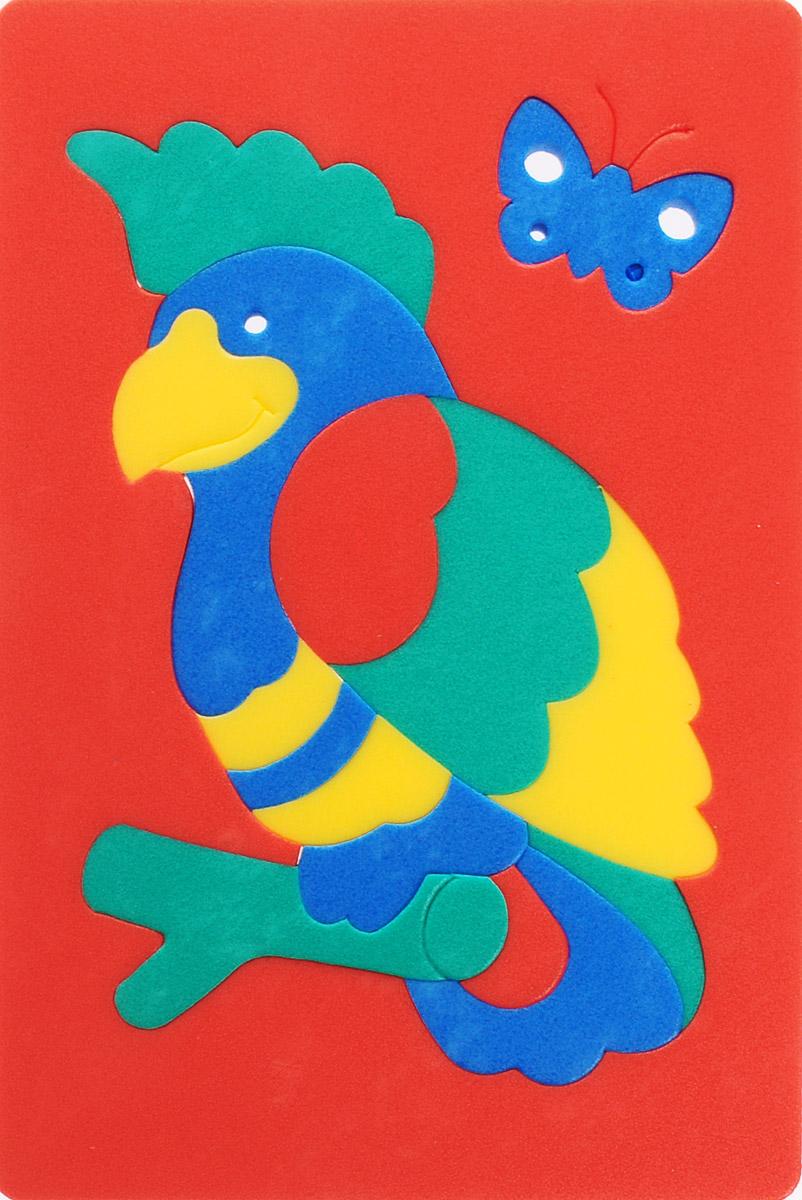 Флексика Пазл для малышей Попугай цвет основы красный август пазл для малышей рыбка цвет основы красный