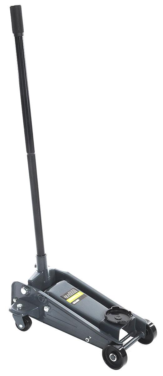 Домкрат подкатной Skyway, гидравлический, 3 тFJ303/S01802009Подкатной домкрат Skyway предназначен для подъема грузов массой до 3 тонн. Изделие позволяет быстро и с минимальными усилиями поднять груз на высоту до 46 см. Обладает большой грузоподъемностью, компактностью, плавностью хода и управлением под небольшим рабочим усилием. Надежная и неприхотливая конструкция домкрата обеспечивает его работоспособность в любых условиях.Домкрат предназначен для использования на ровной и твердой поверхности. Полностью металлическая конструкция узлов и агрегатов обеспечивает высокую надежность и отказоустойчивость. Перепускной клапан предохраняет домкрат от поломки, если вес груза превышает грузоподъемность домкрата.Он оснащен прочными колесами, обеспечивающими его мобильность и удобство в эксплуатации. Уникальная система предотвращает чрезмерную откачку.Максимальная нагрузка: 3 т.Максимальная высота: 46 см.Минимальная высота: 14 см.