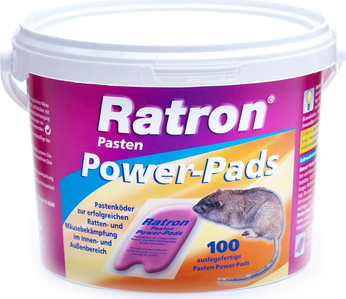 Мягкая приманка от мышей и крыс  Ratron , 100 пакетиков -  Защита от вредителей