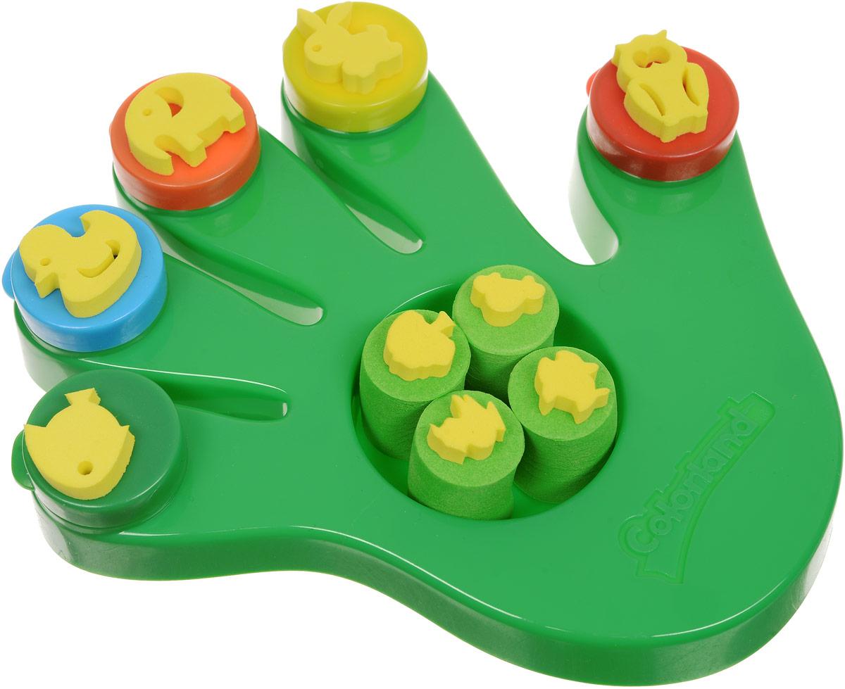 Molly Краски пальчиковые со штампами Ладошка цвет зеленыйFP-37_зеленыйКраски пальчиковые со штампами Molly Ладошка отлично подойдут для первого творчества малыша.Краски подходят для раннего обученияцветам, развития тонкой моторики, тактильного восприятия.Краски разработаны специально для рисования пальчиками или ладошками длядетей от 1 года. В комплект входят 5 цветов (красный, желтый, оранжевый, синий, зеленый), а также тематические штампики, с помощью которыхюный художник сможет дополнить свои композиции аккуратными рисунками животных.Краски нетоксичны.Состав: пищевой краситель,целлюлозный загуститель, глицерин, мел, консервант косметический, вода питьевая.