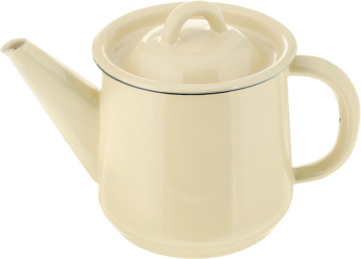 Чайник эмалированный СтальЭмаль, цвет: желтый, 1 л2С202_желтыйЧайник СтальЭмаль выполнен из высококачественного стального проката, покрытого двумя слоями жаропрочной эмали. Такое покрытие защищает сталь от коррозии, придает посуде гладкую стекловидную поверхность и надежно защищает от кислот и щелочей. Носик чайника оснащен свистком, звуковой сигнал которого подскажет, когда закипит вода. Чайник оснащен фиксированной ручкой и крышкой, которая плотно прилегает к краю благодаря особой конструкции.Подходит для газовой и электрической плиты. Диаметр (по верхнему краю): 11,5 см.Высота чайника (с учетом крышки): 12 см.