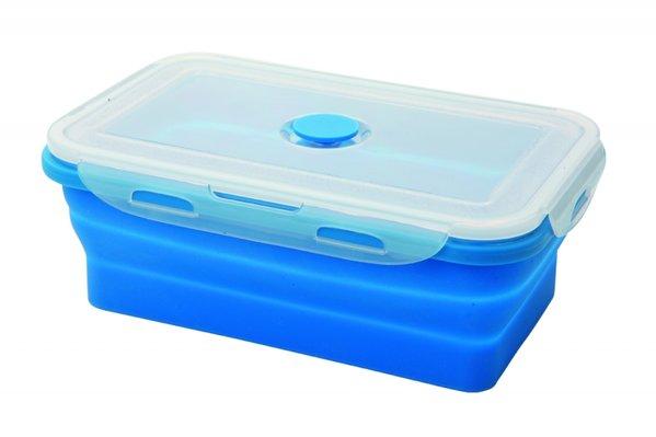 """Складной силиконовый контейнер """"Axon"""" для еды станет вашим надежным помощником на кухне. Контейнер абсолютно герметичен. Пластиковая крышка оснащена четырьмя специальными защелками и выпускным клапаном. Силикон не впитывает запахи.Используйте контейнер для хранения и транспортировки любых пищевых продуктов: салатов, овощей, фруктов, соусов, мясных и рыбных блюд. Контейнер позволяет разогревать продукты в микроволновке, но без крышки, и замораживать в морозилке. После использования контейнер можно просто сложить, он становится в два раза меньше по высоте."""