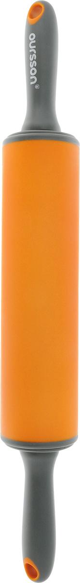 Скалка Oursson, цвет: оранжевый, серый, длина 50 смRP5000SP/ORСкалка Oursson, выполненная из пластика и силикона, предназначена для раскатывания теста. Эргономичные подвижные ручки и вращающийся валик делают работу быстрой и приятной. Теперь вам не потребуется прилагать много усилий, чтобы раскатать тесто. Общая длина скалки (с ручками): 50 см. Длина валика: 25,5 см. Диаметр валика: 6,5 см.