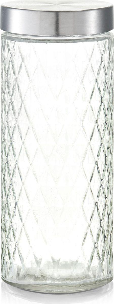Банка для сыпучих продуктов Zeller, цвет: прозрачный, серый, 2 л19693Банка для продуктов Zeller предназначена для хранения кофе, чая, сахара, круп и других сыпучих продуктов. Ваши продукты всегда в ценности и сохранности, когда они находятся в банке для продуктов Zeller.Изящная емкость не только поможет хранить разнообразные сыпучие продукты, но и стильно дополнит интерьер кухни.