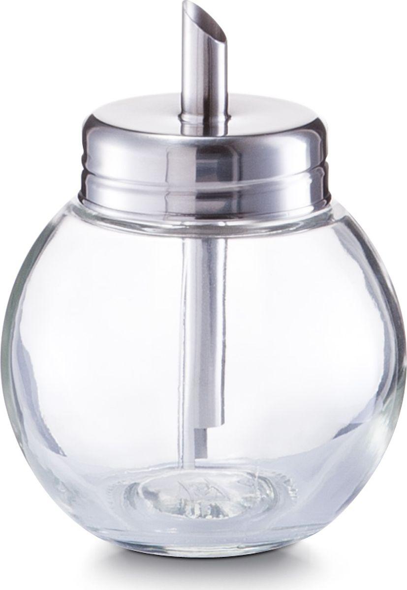 Сахарница Zeller, цвет: прозрачный, серый, диаметр 85 мм, высота 113 мм19928