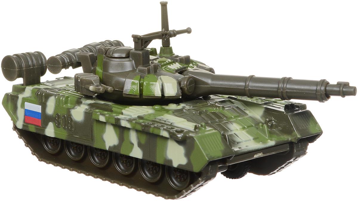 ТехноПарк Танк инерционный T-90 цвет хаки игрушка танк