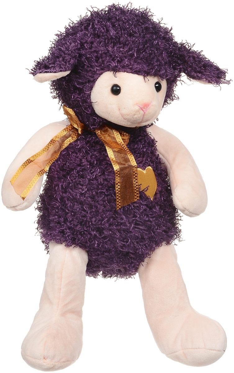 Magic Bear Toys Мягкая игрушка Овечка цвет фиолетовый 28 см magic bear toys мягкая игрушка ослик чарли 27 см
