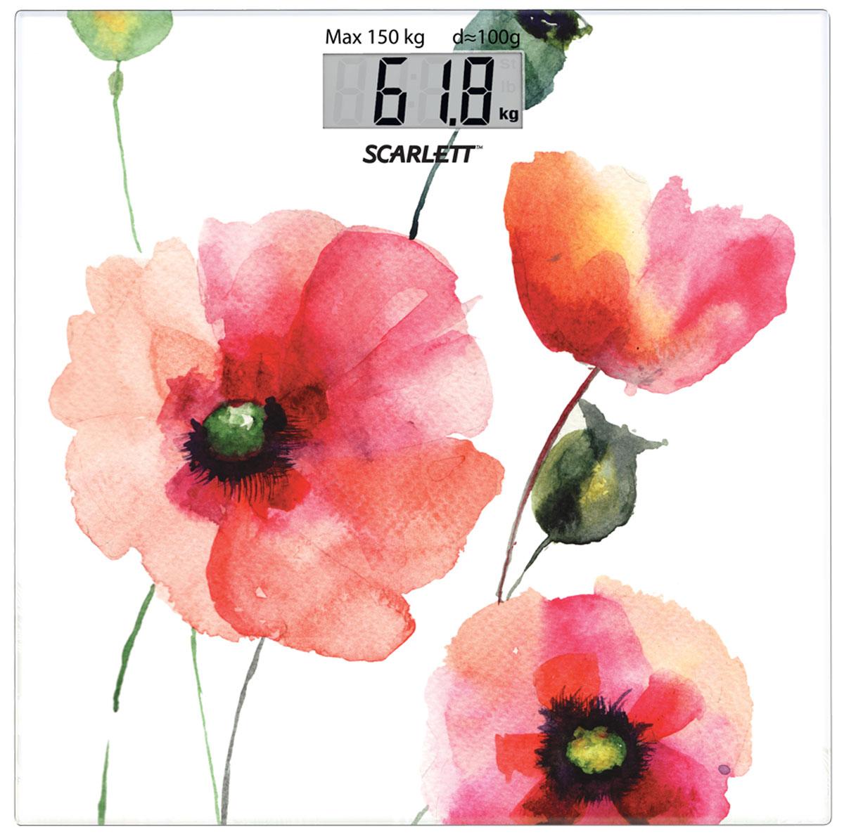 Scarlett SC-BS33E084 Flowers весы напольные какой фирмы напольные весы лучше купить