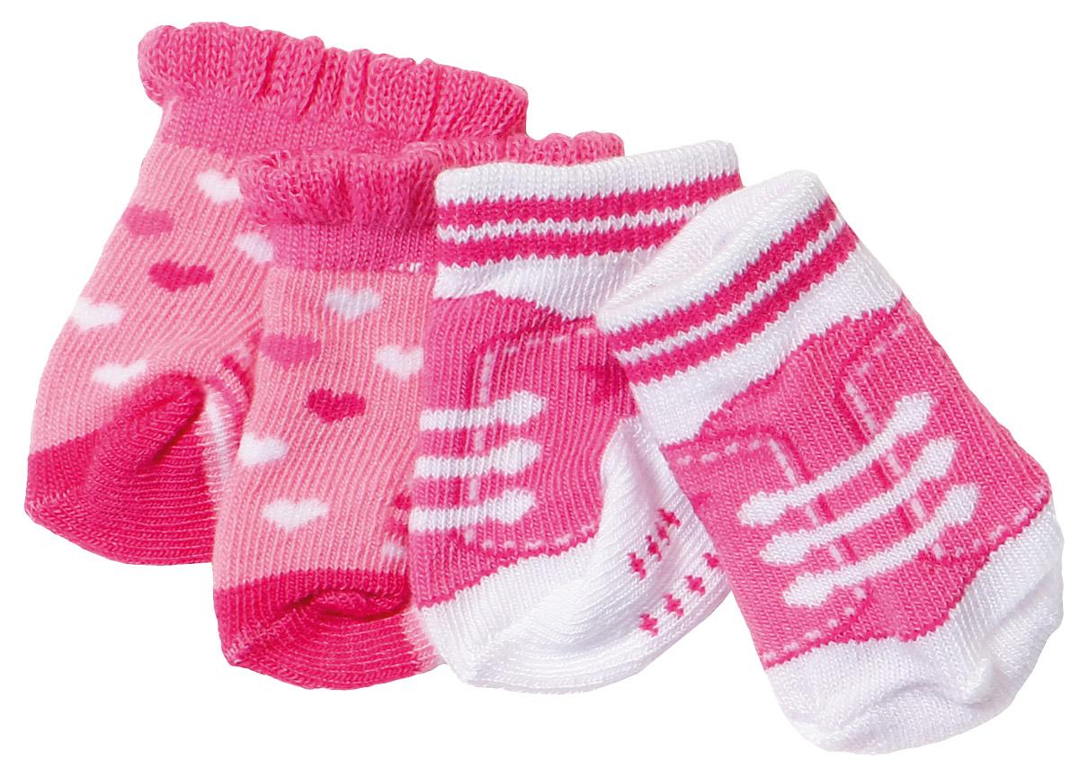 Baby Born Носочки 2 пары цвет розовый avec moi смягчающие носочки