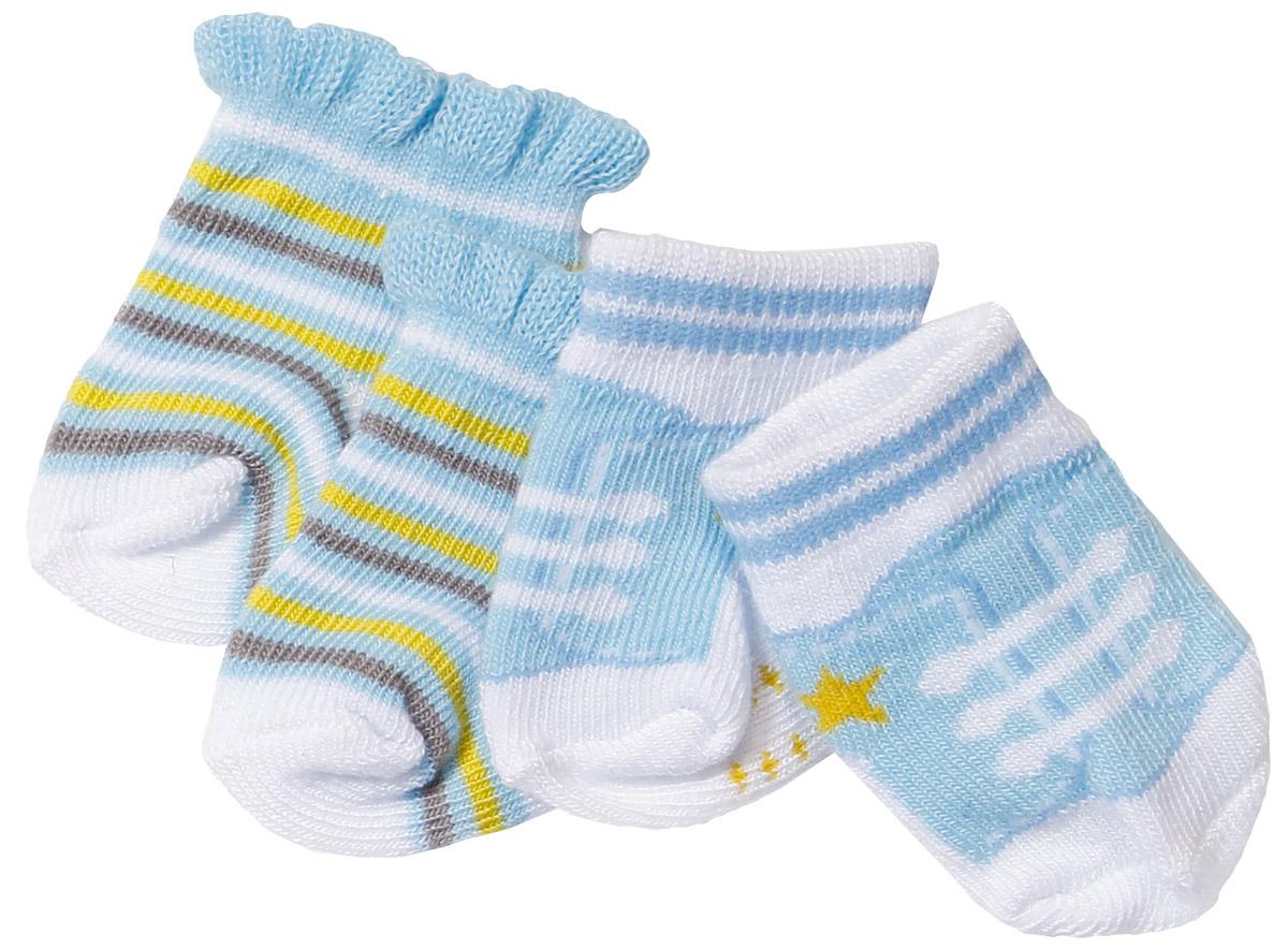 Baby Born Одежда для кукол Носочки 2 пары цвет голубой голубой, белый, салатовый baby born одежда для дождливой погоды