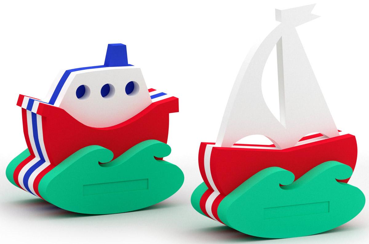 El'BascoToys Игрушка-конструктор для купания Кораблик и Парусник набор для купания спектр