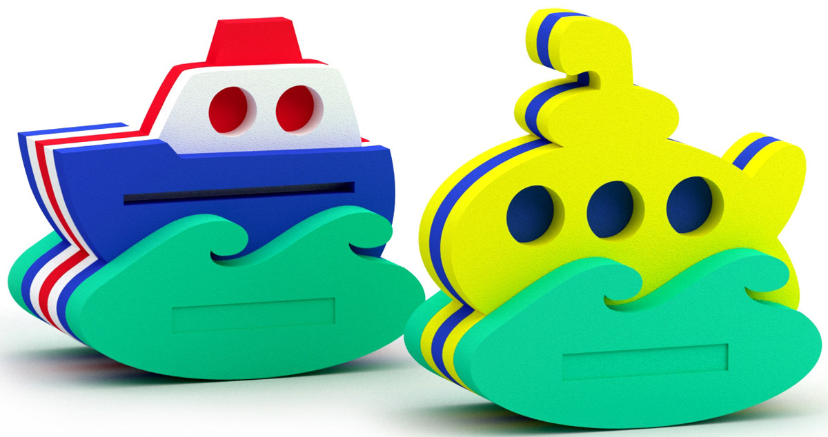 El'BascoToys Игрушка-конструктор для купания Кораблик и Подводная лодка