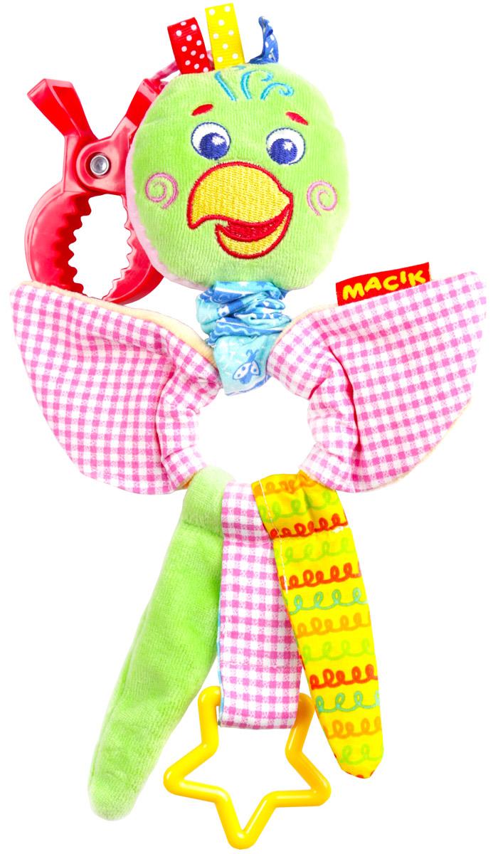 Macik Игрушка-подвеска Зоо Попугай Шалун большую мягкую игрушку собаку лежа в москве