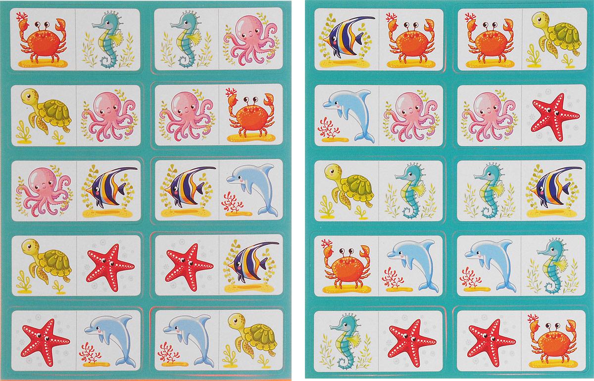 Айрис-пресс Обучающая игра Домино Кто в море живет? айрис пресс обучающая игра iq кубики силуэты 50 игр для развития интеллекта