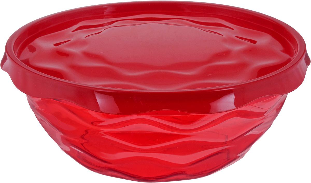 Салатник Giaretti Riva, с крышкой, цвет: темно-красный, 2,5 лGR1835_красныйСалатник Giaretti Riva выполнен из высококачественного пластика и оформлен оригинальной рельефной поверхностью. Изделие оснащено крышкой для лучшего сохранения приготовленной пищи. Он прекрасно впишется в интерьер вашей кухни и станет достойным дополнением к кухонному инвентарю. Диаметр салатника (по верхнему краю без учета крышки): 22 см. Высота салатника (без учета крышки): 8,5 см.