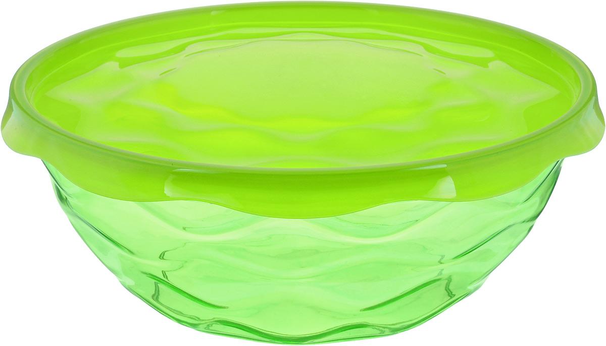 Салатник Giaretti Riva, с крышкой, цвет: салатовый, 4 лGR1836_зеленыйПрочный и удобный салатник Luminarc Riva, изготовленный из полистирола иполипропилена, прекрасно подходит как для приготовления, так и для подачи различных блюдна стол. Салатник оснащен удобной плотной крышкой, которая сохранит свежестьприготовленных блюд. Изделие оформлено оригинальной рельефной поверхностью. Салатник прекрасно впишется в интерьер и станет достойным дополнением на вашей кухне.Диаметр салатника (по верхнему краю без учета крышки): 27 см.Высота салатника (без учета крышки): 10,5 см.