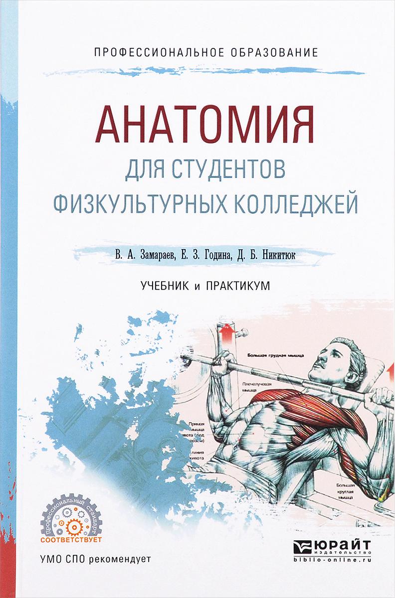В. А. Замараев, Е. 3. Година, Д. Б. Никитюк Анатомия для студентов физкультурных колледжей. Учебник и практикум шилкин в филимонов в анатомия по пирогову атлас анатомии человека том 1 верхняя конечность нижняя конечность cd