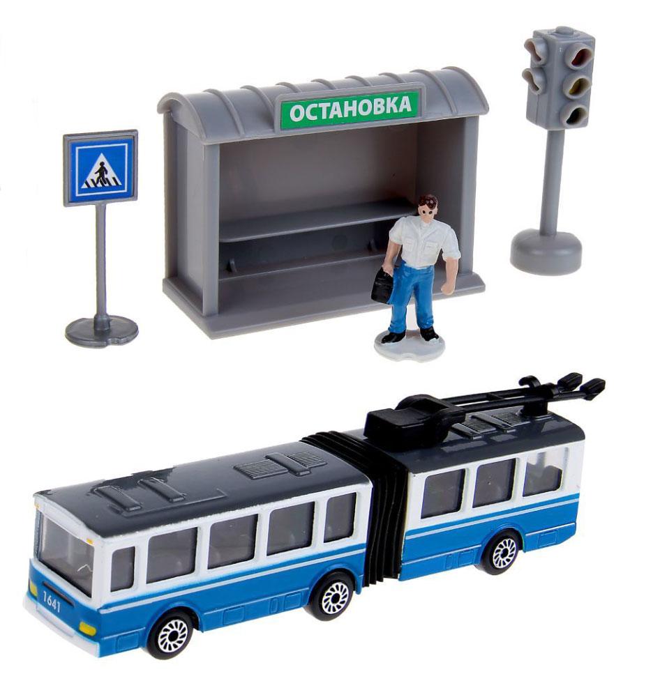 ТехноПарк Игровой набор Городской транспорт Троллейбус технопарк набор машинок городской транспорт 3 шт