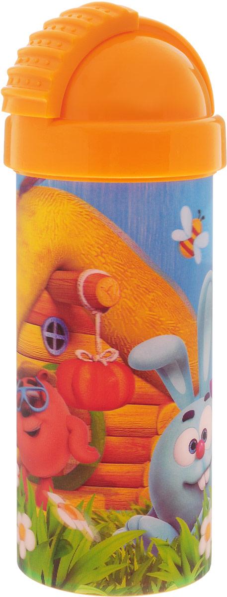 Смешарики Стакан детский с крышкой и трубочкой 400 млSMF400-01Детский стакан Смешарики непременно станет любимым стаканчиком малыша. Стакан выполнен из прочного безопасного полипропилена и оформлен изображением героев мультсериала Смешарики. Благодаря безопасному материалу, стакан подойдет для любых напитков. Стакан имеет съемную крышку со сдвигающейся заслонкой, под которой расположена гибкая силиконовая трубочка для удобства питья.Объем стакана: 400 мл.Не подходит для использования в посудомоечной машине и СВЧ-печи.