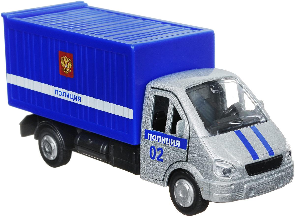 ТехноПарк Автомобиль Газель Полиция SB-16-42-K2-WB технопарк модель автомобиля газель дорожные работы