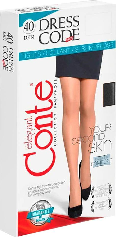 Колготки женские Conte Elegant Dress Code 40, цвет: Nero (черный). Размер 3Dress Code 40Плотные матовые колготки без блеска в практичной упаковке. Идеальное решение для офиса.
