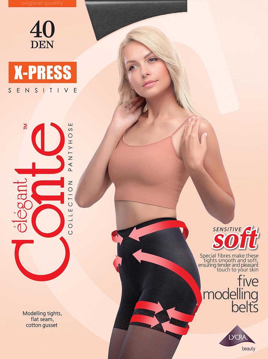 Колготки женские Conte Elegant X-Press 40, цвет: Nero (черный). Размер 5 люсеро колготки с микрокапсулами моделирующие р s m черные