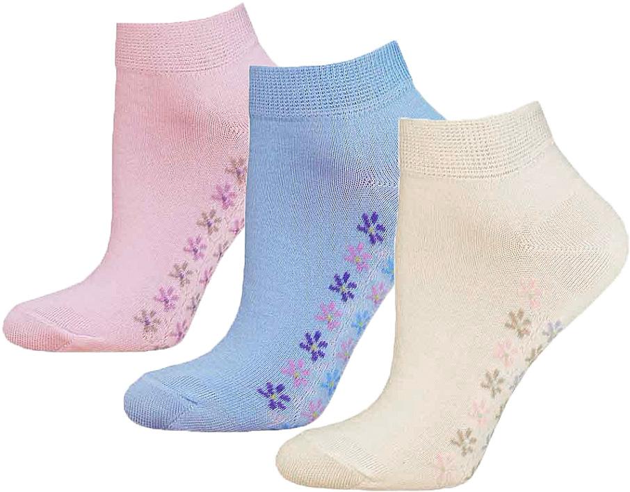 Купить Носки женские Брестские Classic, цвет: бледно-голубой, бледно-розовый, белый, 3 пары. 14С1101-019. Размер 23