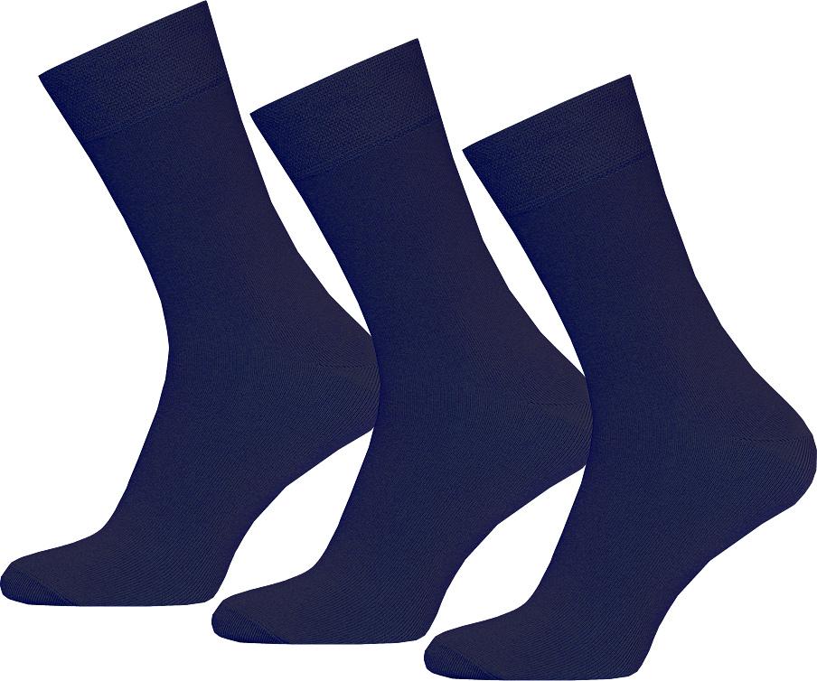 Носки мужские Брестские Classic, цвет: темно-синий, 3 пары. 14С2122-000. Размер 29 [jingdong супермаркет] puma puma мужские носки случайные спортивные высокие носки три пары установлены m 2905 3 темно синий черный 1 1 1 размер меланж