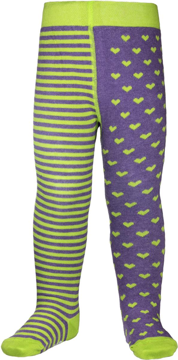Колготки детские Conte Kids Tip-Top, цвет: фиолетовый, светло-зеленый. TIP-TOP 14С-79СП_355. Размер 104/110 колготки conte elegant колготки prestige 20