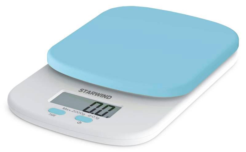 Starwind SSK2156, Blue весы кухонныеSSK2156Кухонные электронные весы Starwind SSK2156 - незаменимый помощник современной хозяйки. Они помогут точно взвесить любые продукты и ингредиенты. Кроме того, позволят людям, соблюдающим диету, контролировать количество съедаемой пищи и размеры порций. Предназначены для взвешивания продуктов с точностью измерения 1 грамм.