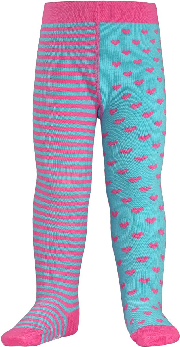 Колготки детские Conte Kids Tip-Top, цвет: бирюзовый, розовый. TIP-TOP 14С-79СП_355. Размер 104/110