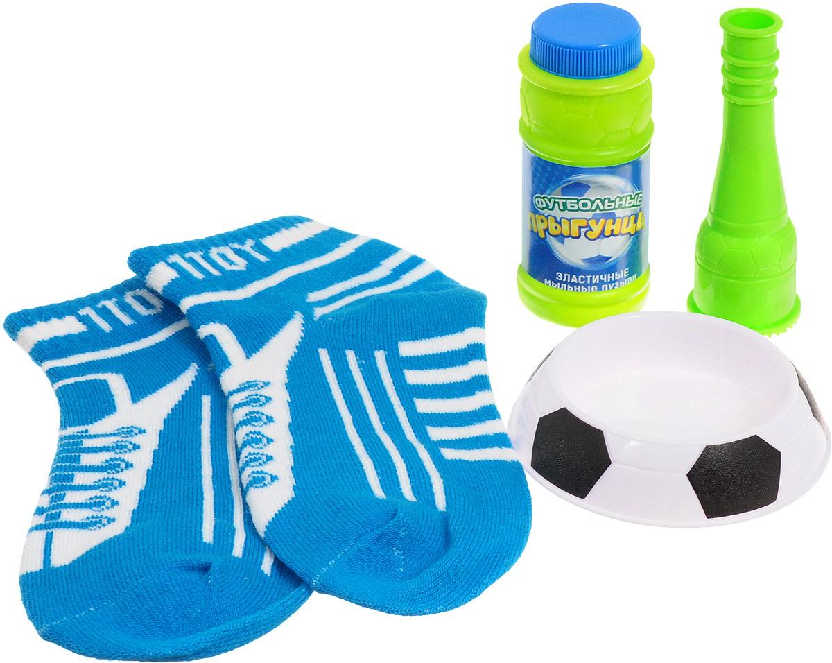 1TOY Мыльные пузыри Футбольные Прыгунцы цвет голубой белый Размер 30-39 - Мыльные пузыри