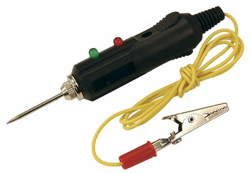 Автотестер универсальный Rexant. 16-010216-0102Универсальный автотестер предназначен для быстрой и эффективной диагностики электрооборудования автомобилей. Позволяет определить полярность напряжения (+/-), выявить замыкание и обрыв проводки или проверить предохранители, лампочки и диоды. Корпус выполнен из ударопрочного пластика и снабжен проводом с зажимом типа крокодил, светодиодным и звуковым индикатором.
