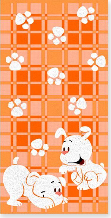 Полотенце махровое Bravo Щенки, цвет: оранжевый, белый, 60 х 120 см71274Полотенце Щенки выполнено из натуральной махровой ткани (100% хлопок). Изделие отлично впитывает влагу, быстро сохнет, сохраняет яркость цвета и не теряет форму даже после многократных стирок. Полотенце очень практично и неприхотливо в уходе. Оно создаст прекрасное настроение и украсит интерьер в ванной комнате.