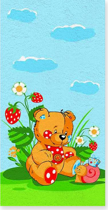 цена на Полотенце махровое ВТ Забавный мишка, цвет: синий, 33 х 70 см. м1053_01
