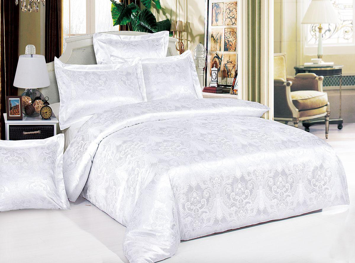Комплект белья Versailles Ариадна, 2-спальный, наволочки 50x70, цвет: белый80551Комплект постельного белья Versailles изготовлен из сатина, сотканного из хлопка с добавлением вискозных волокон. Белье дарит приятные тактильные ощущения на протяжении всего сна, а уникальные жаккардовые узоры придают танки мягкий блеск и обеспечивают материалу особую прочность. Постельное белье Versailles - отличный подарок на любое торжество и идеальный выбор для взыскательных покупателей. Комплект состоит из пододеяльника, простыни и двух наволочек. Состав: хлопок 70%, вискоза 30%
