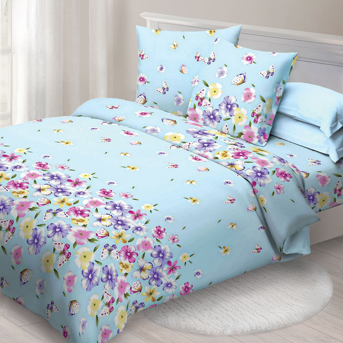 Комплект белья Спал Спалыч Летний день, 2-х спальное, наволочки 70x70, цвет: голубой. 1271-182459