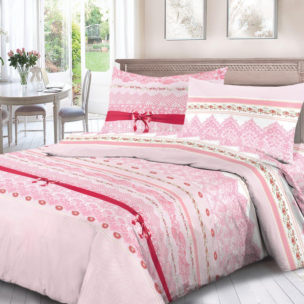 Комплект белья Для Снов Бал, 1,5-спальный, наволочки 70x70, цвет: розовый. 4062-183517Постельное белье Для Снов, выполненное из высококачественного поплина (ткань Традиция), в составе которого находится только 100% мерсеризованный хлопок - это идеальный выбор современной женщины.Преимущества: - Ткань прочнее обычной, при этом мягкая и шелковистая; - Цвета яркие и устойчивые; - Высокая гигроскопичность; - Меньше мнется, не линяет и не садится при многократных стирках; При производстве используются только безопасные красители ведущего швейцарского производителя BEZEMA. Восхитительная упаковка придает комплекту подарочный вид.В комплекте:пододеяльник (145 х 215 см),2 наволочки (70х70 см),простыня (150 х 215 см).Советы по выбору постельного белья от блогера Ирины Соковых. Статья OZON Гид