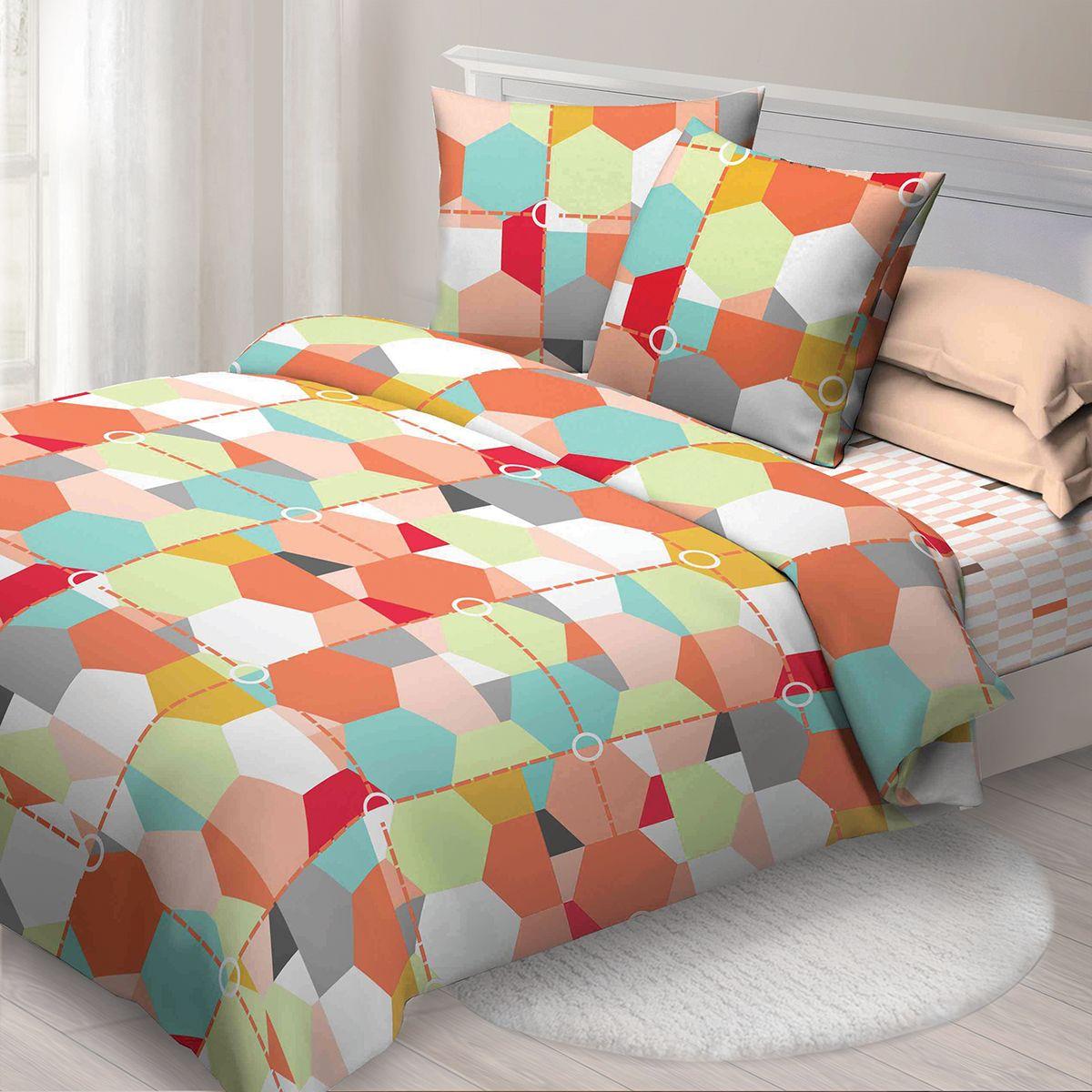 Комплект белья Спал Спалыч Карамель, 2-х спальное, наволочки 70x70, цвет: бордовый. 4084-184190