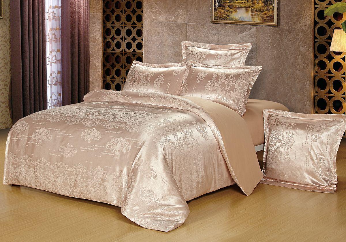Комплект белья Versailles Мими, евро, наволочки 50x70, цвет: розовый85481Комплект постельного белья Versailles изготовлен из сатина, сотканного из хлопка с добавлением вискозных волокон. Белье дарит приятные тактильные ощущения на протяжении всего сна, а уникальные жаккардовые узоры придают танки мягкий блеск и обеспечивают материалу особую прочность. Постельное белье Versailles - отличный подарок на любое торжество и идеальный выбор для взыскательных покупателей. Комплект состоит из пододеяльника, простыни и четырех наволочек. Состав: хлопок 70%, вискоза 30%