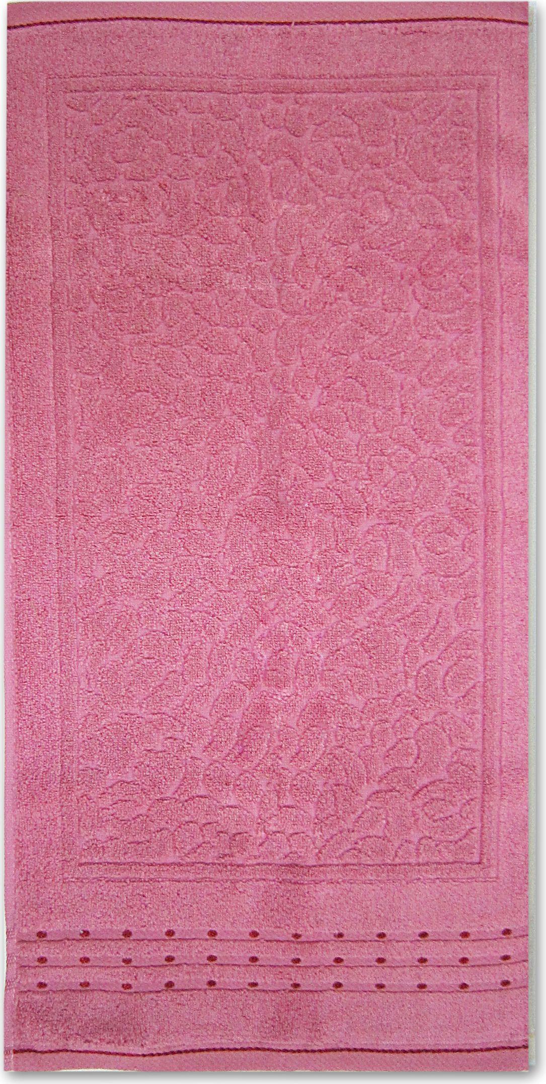 Полотенце махровое Bravo Морион, цвет: малиновый, 50 х 90 см bravo полотенце детское пони 33 x 70 см 1089