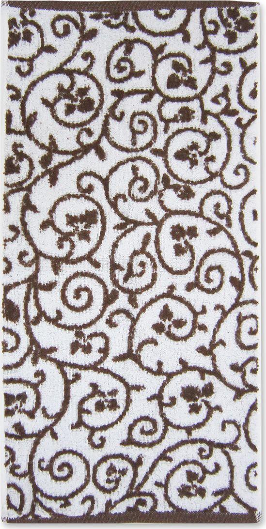 Полотенце махровое Bravo Верона, цвет: коричневый, белый, 45 х 90 см85575Полотенце Верона выполнено из натуральной махровой ткани (100% хлопок). Изделие отлично впитывает влагу, быстро сохнет, сохраняет яркость цвета и не теряет форму даже после многократных стирок. Полотенце очень практично и неприхотливо в уходе. Оно создаст прекрасное настроение и украсит интерьер в ванной комнате.