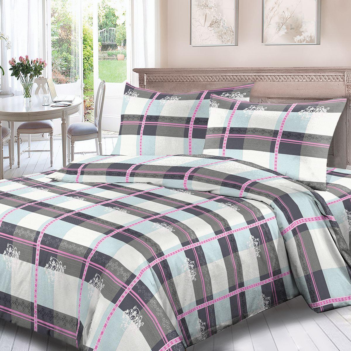 Комплект белья Для Снов Денди, 2-х спальное, наволочки 70x70, цвет: серый. 1852-186492