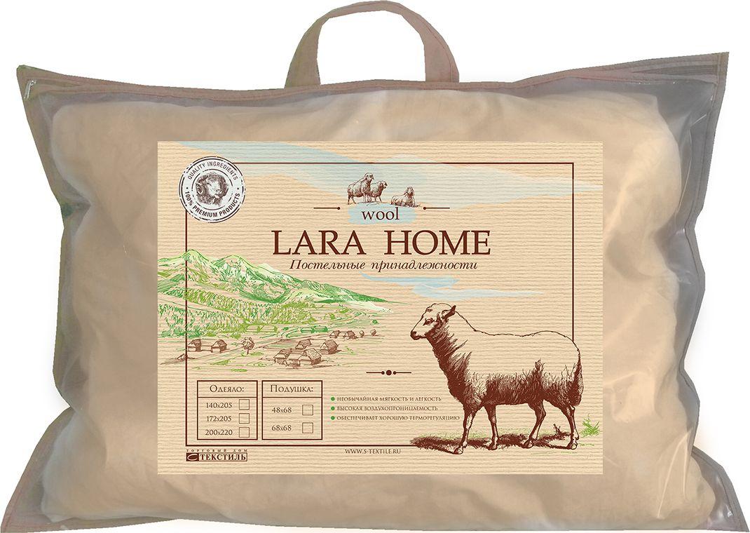 Подушка Lara Home Wool, цвет: бежевый, 48 х 68 см термокружка lara lr04 39